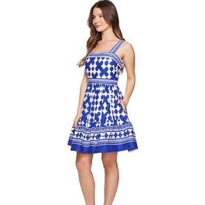 Kate Spade Lantern Poplin Dress Cobalt Blue Size 8